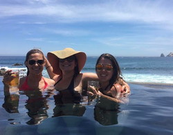 Photo Lisa Boothe with friends chilling in a pool[6]