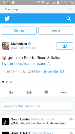 Mariah confirmed on Twitter that her race is mixed Puerto Rican and Italian.