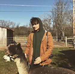 Zachary Schwartzwith a Llama .
