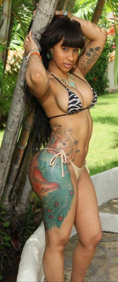 Full body shot of Cardi B.