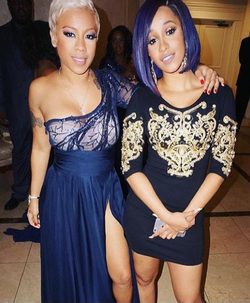 Cardi B with Keyshia Cole.