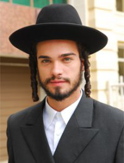 A picture of him portraying a Jew