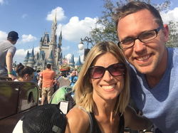 Brooks Gibbs and his wife Jill at Disneyworld