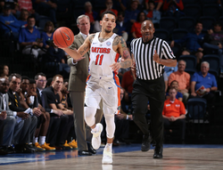 Chris Chiozza on the court