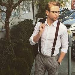 Francis Maxwell in suspenders