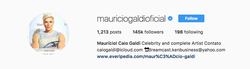 Maurício Galdi​ linking his Everipedia article in his Instagram bio