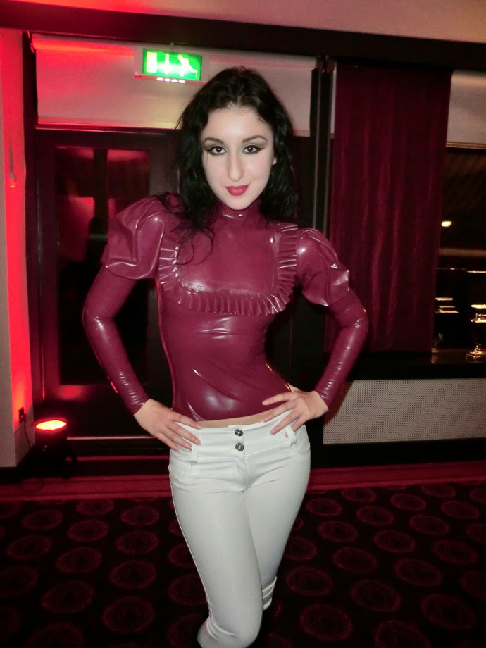 Women in tight latex