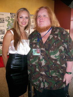 Photo ofShera Bechard with                               Harry Knowles                                                                                                [11]                                                               
