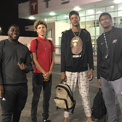 Ron Artest III                              with some of his friends, which include:                               LaMelo Ball                              ​ and                               Shareef O'Neal                              ​.
