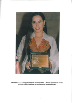 Lydia Canaan Receiving Lebanese International Success Award