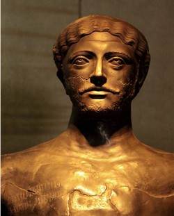 Bronze statue of Dhamar Ali, King of the Himyarite dynasty, the 4th century AD