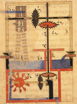 Medieval Arab mechanical manuscript