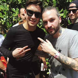 Adi and Steve Angello​ in Miami​.
