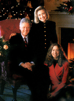 Clinton family in the                                 White House