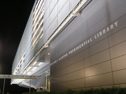 The                                 Clinton Presidential Center                                , dedicated in 2004