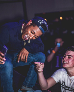 Cousin Stizz with a fan