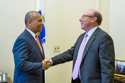 Jeffrey with Governor Deval Patrick