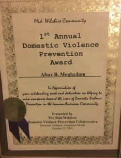 Domestic violence prevention awards.