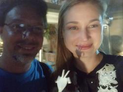 Alena Vranova with a friend