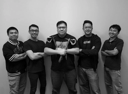Photo of Anthony Lau with the rest of his co-founders of SQ2 Fintech Pte.
