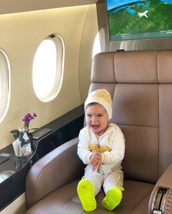 Bella Alexa World Record Holder for most flight hours under 1yrs old with 103 Hours