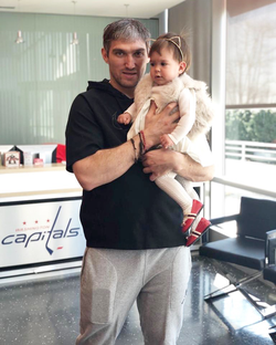 Bella Alexa and Alexander Ovechkin from Washington Capitals