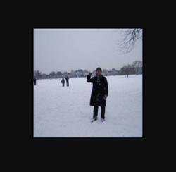 Photo of Ben Schillerin the snow.
