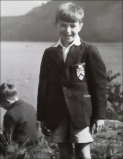 "This picture is of Peter and Bill Fairclough in Red House School uniform in 1957 in the Lake District. By this time at Red House School​, a preparatory school in Norton​, Stockton-on-Tees, Peter and Bill had already been nicknamed the terrible twins even though Peter was the elder by some 18 months. It should be noted that the expression ""terrible twins"" may refer to any two people whether or not related. They caused havoc wherever they went in those golden days in the fifties and early sixties."