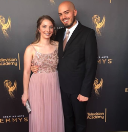 Brittany Van Horne with a friend at the Emmy Awards. ​