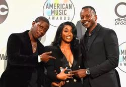 Cleopatra Bernard accepting XXXTentacion's award at the American Music Awards  (2018)