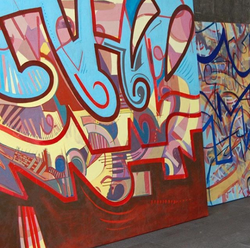 7' x 6' painting by Constanza Blondet from 2002.[4]