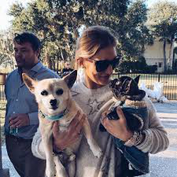 Eliza with dogs