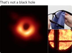 Internet meme of the black hole