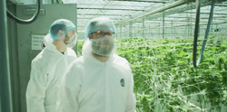 Seth Rogen making a visit to the Houseplant facilities.