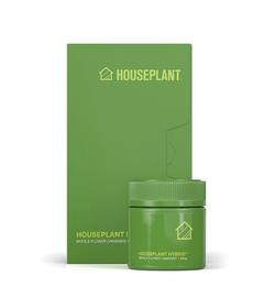 Houseplant packaging in green.