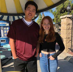 Isabel Oliver Marcus with herFresh Off the Boatco-star,Hudson Yang.[10]