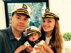 Jack pictured with his family