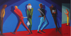 The Audition (2017, Oil on canvas, 24 x 48 inches) [8]