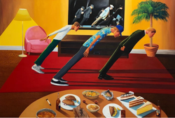 Smooth Criminals (2018, Oil on canvas, 78 x 114 inches)[2]
