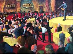 Hollywood Disco (2017, Oil on wood panel, 36 x 48 inches) [8]