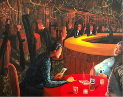 Speakeasy (2018, Acrylic on canvas, 24 x 30 inches) [8]