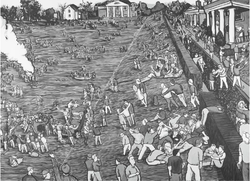 Easters at the University of Virginia (2015, Ink on paper, 48 x 60 inches) [8]