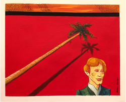 Horizontal Palm (2018, Acyrlic, gouache, and graphite on paper, 8 x 10 inches) [8]
