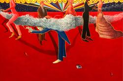 Please No No Smoking (2018, Acrylic on canvas, 48 x 72 inches) [8]