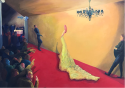 Yellow Dress (2017, Oil on wood panel, 36 x 48 inches) [8]