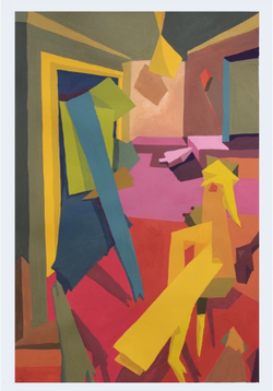 L.A. Apartment, 1969 (2016, Gouache on paper, 11 x 14 inches) [8]​