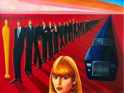 Waiting for Michelle Pfeiffer  (2018, Acrylic on paper, 34 x 45 inches) [8]