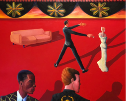 They Saw It Coming (2018, Oil on canvas, 48 x 60 inches) [8]
