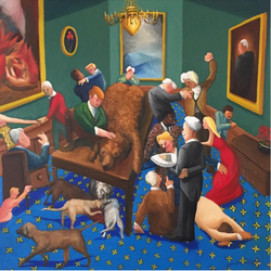 Nice Bear (2017, Oil on canvas, 36 x 36 inches) [8]