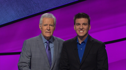 James Holzhauer with Alex Trebek​